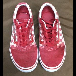 Vans Red Checkered Old Skool Skate Shoes